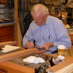 Dick laying out mortise